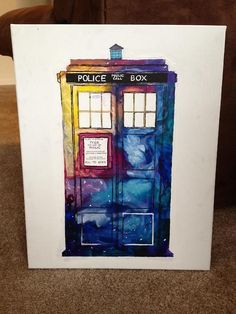 Melted crayon TARDIS :) gotta do this