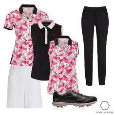 Fairway-Blumen-Outfit