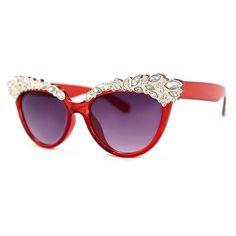 A.J. Morgan Eyewear Plastic sunglasses with crystal detail, $28; ajmorganeyewear.com