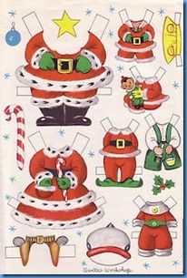 Santa paper doll clothes