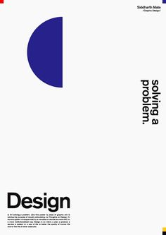 """choco-joint: """"Design is, Art solving problem. Design is Art solving a problem. Like this poster (a piece of graphic art) is solving the purpose of visually articulating my Thoughts on Design. Or like the system of shapes that try to visualise or. Minimal Graphic Design, Graphic Design Posters, Graphic Design Typography, Graphic Design Inspiration, Graphic Art, Art Adventure Time, 3d Max Tutorial, Logo Typo, Poster Retro"""