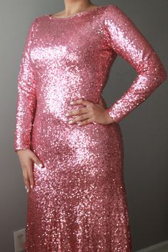 Check out this item in my Etsy shop https://www.etsy.com/listing/216868137/pink-sequin-long-gown-long-dress-wedding