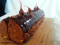Bûche Chocolat Noir Pralinée sans Lactose