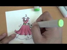 """Here's how I color """"folds"""" using my Copic Markers.    Dancing Dress image: http://www.tiffanydoodles.com/Dancing-Dress-Digital-Stamp-p/dancingdress.htm    Colors used:  dress: pinks: R85, R83, R81  greens: YG17, YG13, YG07  purple: V09    Thanks for watching!  Tiffany Doodles: http://www.tiffanydoodles.com  TD blog: http://tiffanydoodles.blogspot.com  my bl..."""