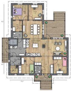 IIRIS 153 A - Kannustalo Oma merkintä: vaatehuoneesta jatketaan tarvittaessa, joilloin saadaan lisää m.huoneita