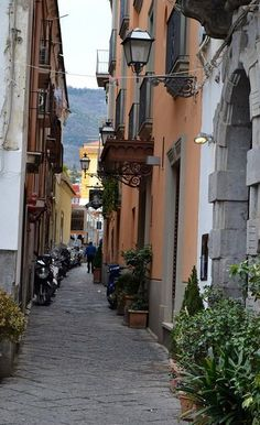 Sorrento, my favorite place to sit and people watch, gorgeous at Christmas!