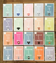 Baby- & Geburtskarten - Milestone Cards für Babys / Meilenstein Karten - ein Designerstück von strawberryblondede bei DaWanda