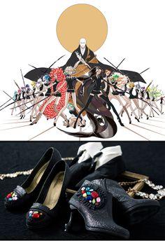 宝石の国のパンプス靴・ブーティ・エリマキソックス靴下
