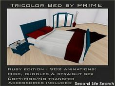 PrimBay - Tricolor Bedroom Ruby by PRIME