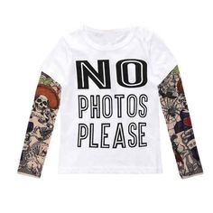 US $4.79 / piece  -20%  4 days left Summer t-shirt cotton boys clothes casual baby children clothing tattoo print long sleeve t shirts toddler kids top tees 1-5year