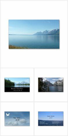 Landscape photography business cards