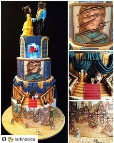 Amazing Beauty and the Beast cake!