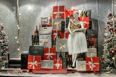 Selfridges Holiday window display   We have mannequins like this for sale at Mannequin Madness