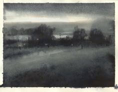 'Old man Keeler's homestead' ~ atmospheric ink sketch by Nathan Fowkes Pastel Landscape, Watercolor Landscape, Landscape Paintings, Watercolor Paintings, Watercolour, Watercolor Sketchbook, Art Sketchbook, Fine Art Drawing, Art Drawings