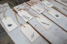 ceramic gift tags :)