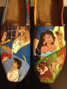 Custom Hand-Painted Shoes: Animation Revival Shoes on Wanelo