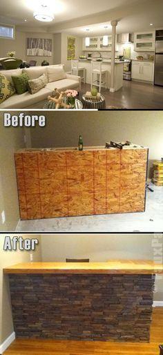 Best DIY Renovation Ideas for unfinished Basement Basement Decorating, Basement Makeover, Basement Renovations, Basement Ideas, Diy Decoration, Diy Home Decor, Rustic Stairs, Diy Ideas, Decor Ideas