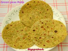 Green peas Rotis / Mutter Rotis - A delicious & nutritious rotis , made of green peas (fresh mutter),...