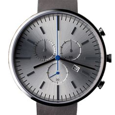 Uniform Wares 302 Series (brushed/grey) watch by Uniform Wares. Available at Dezeen Watch Store: www.dezeenwatchstore.com