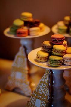Eiffel Tower Cookies & Macarons!