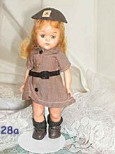 Ginger-Type doll Dress in Terri Lee Girl Scout Uniform 8 inch 1950s