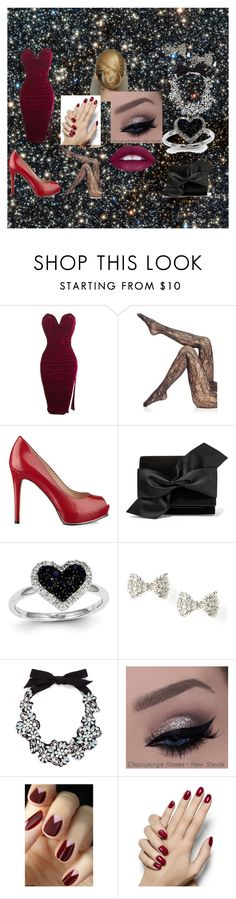 """Untitled #49"" by jayden-haynes ❤ liked on Polyvore featuring Wolford, GUESS, Victoria Beckham, Kevin Jewelers and J.Crew"