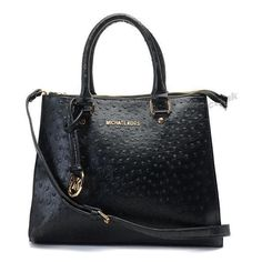 Michael Kors Tote Black Classic Ostrich Leather
