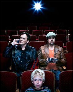 Quentin Tarantino and Brad Pitt by Dan Winters