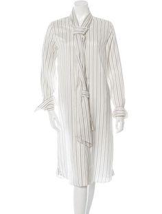 Maison Martin Margiela 2016 Striped Silk Maxi Dress