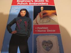Purr-fect Puch Beginners Guide to Punch Embroidery Book  Book explains how to punch needle very helpful