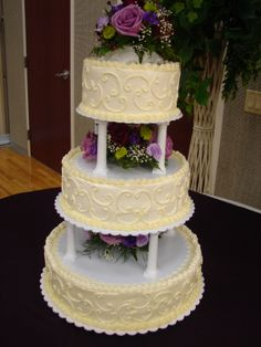 3 Tier Wedding Cakes The Three Tiers Were Made From Chocolate Cake With A