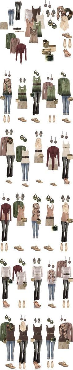 STITCH FIT PEEP: I <3 greens, browns,and reds! This would be perfect for me. All of my clothing in green and brown had to be donated b/c it was too large for me.