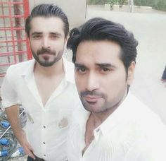 Humayun Saeed with Hamza Ali Abbasi❤️