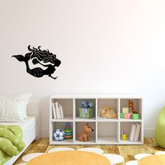 Hey, I found this really awesome Etsy listing at https://www.etsy.com/listing/188295826/mermaid-decal-with-sea-shell-for