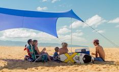 Neso Grande Beach Tent with Sand Anchor, Portable Canopy for Shade - Multiple Colors (Periwinkle, Large) Beach Shade Tent, Pop Up Beach Tent, Beach Cabana, Beach Canopy, Sun Canopy, Pop Up Tent, Best Tents For Camping, Tent Camping, Camping Outdoors
