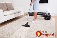 Toto doslova vytiahne špinu z vašich kobercov: Zabudnite na tepovanie, s týmto bude každý koberec žiariť čistotu a vy sa nenarobíte!