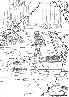 Luke Skywalker on Dagobah coloring page | For the kids | Pinterest ...