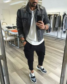 This stunning outfit photo makes me wanna create myself! Fall Fashion 2016, Fashion 101, Fashion Advice, Star Fashion, Mens Fashion, Cool Outfits, Casual Outfits, Smart Casual Men, Ripped Jeans Men