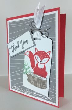 Foxy Friends, Fox Builder Punch, Stampin' Up!, BJ Peters, #foxyfriends…