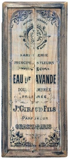 French Vintage Style Perfume Sign – Echo and Ben Design Shop
