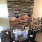 pallet wood fire place