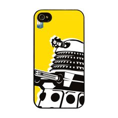 Licensed iPhone 4 / 4s Hard Case Cover - Doctor Who: New Daleks. $23.00, via Etsy.