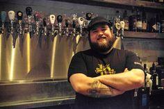 Matt Bod, bartender at Bar Hop, a beer lover's dream in Toronto.