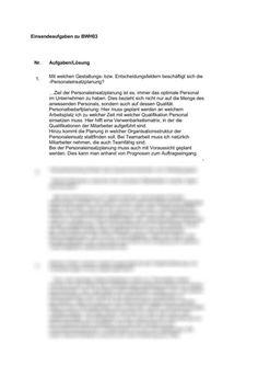 Einsendeaufgabe SGD BWH03 Ökonomische Handlungsprinzipien von Unternehmen -  Einsendeaufgabe  ILS/SGD BWL / Betriebswirtschaftslehre Words, High School Graduation, Authors, Business, Horse