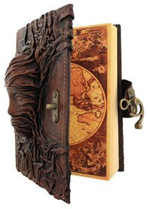 3D Scarfed Woman Sculpture Brown Leather Bound Journal / Notebook / Diary | eBay
