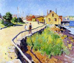 bofransson:    Inner Harbour, Gloucester, 1895 Willard Metcalf