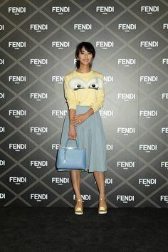 Yoshiko Kris-Webb at the Fendi Haute Couture show in Tokyo.