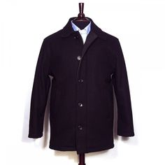 O'Connell's Melton Wool Car Coat - Black