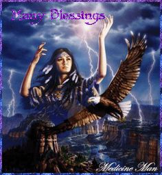 Native American Artists Paintings | Native American Blessings Glitter Graphics