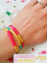 Bricolage fete des mères bracelet macaroni ! - Momes.net